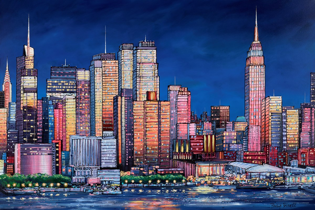 New York Rhythm by phillip bissell -  sized 59x39 inches. Available from Whitewall Galleries